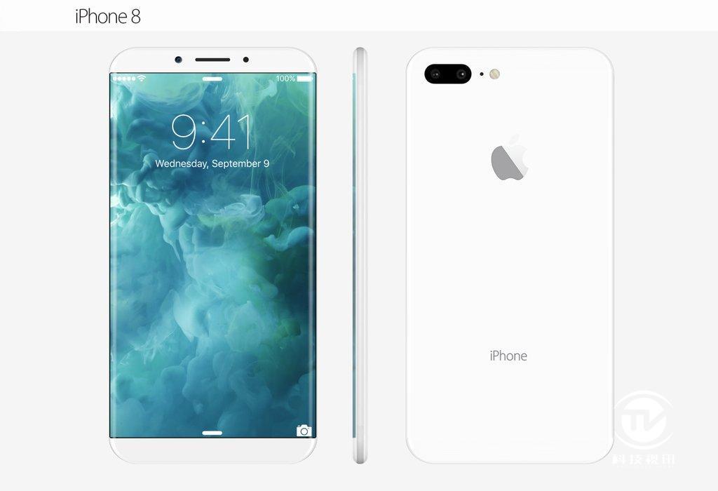 无边框,屏幕加大,iphone 8外形曝光